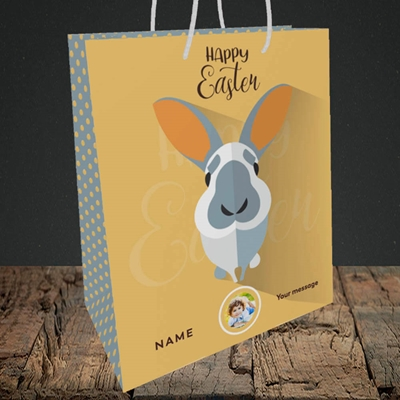 Picture of Pick Me Up Bunny, Easter Design, Medium Portrait Gift Bag
