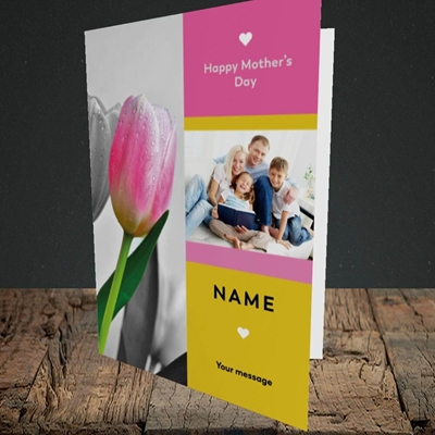 Picture of Mother's Day Tulips, Mother's Day Design, Portrait Greetings Card