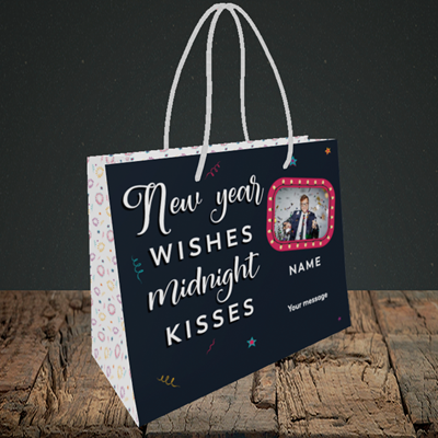 Picture of Midnight Kisses, New Year Design, Small Landscape Gift Bag
