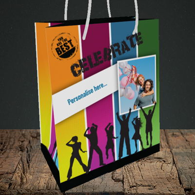 Picture of Silhouette, Celebration Design, Medium Portrait Gift Bag