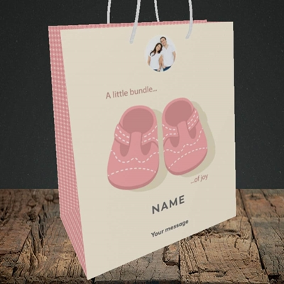 Picture of Little Bundle-Girl, New Baby Design, Medium Portrait Gift Bag