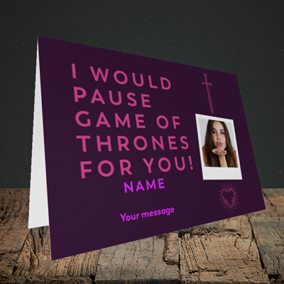 Picture of Game Of Thrones, Birthday Design, Landscape Greetings Card
