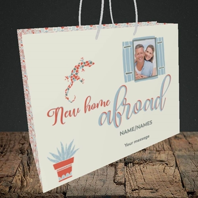 Picture of New Home Abroad, New Home Design, Medium Landscape Gift Bag