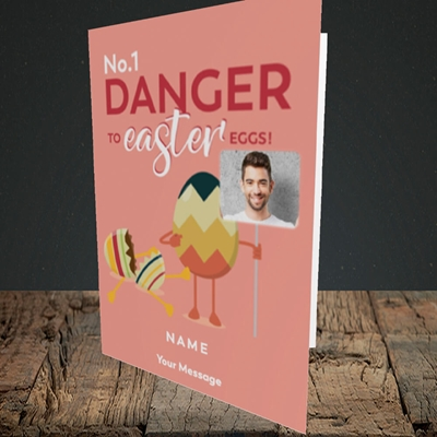 Picture of No.1 Danger, Easter Design, Portrait Greetings Card