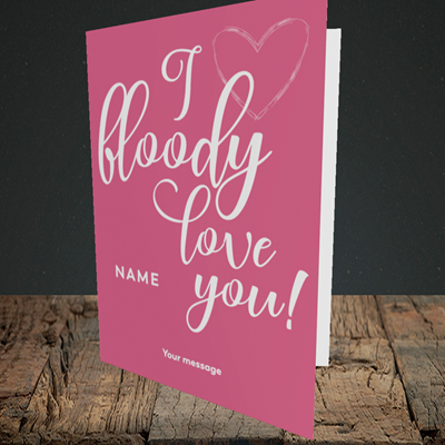 Picture of I Bloody Love You(Without Photo), Valentine's Design, Portrait Greetings Card