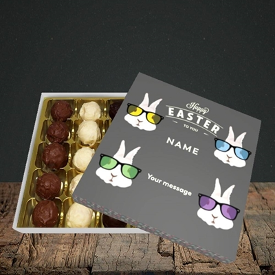 Picture of Hipster Bunnies(Without Photo), Easter Design, Choc 25