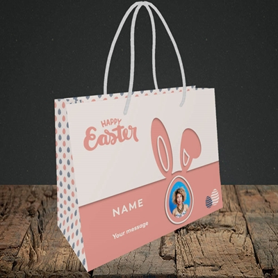 Picture of Ears & Egg, Easter Design, Small Landscape Gift Bag