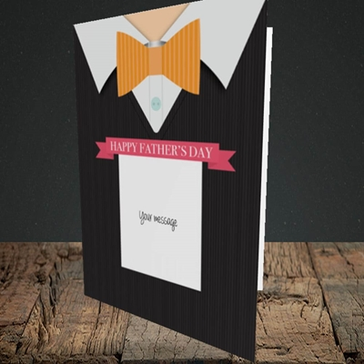 Picture of Bowtie(Without Photo), Father's Day Design, Portrait Greetings Card