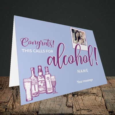 Picture of Calls For Alcohol, Celebration Design, Landscape Greetings Card