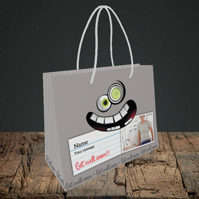 Picture of Mad, Get Well Soon Design, Small Landscape Gift Bag