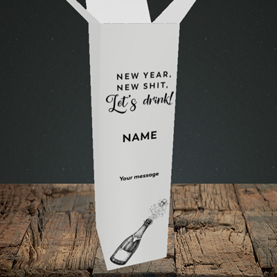 Picture of Let's Drink(Without Photo), New Year Box Design, Upright Bottle Box