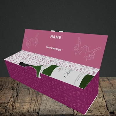 Picture of Bitch Please!(Without Photo), Wedding Design, Lay-down Bottle Box