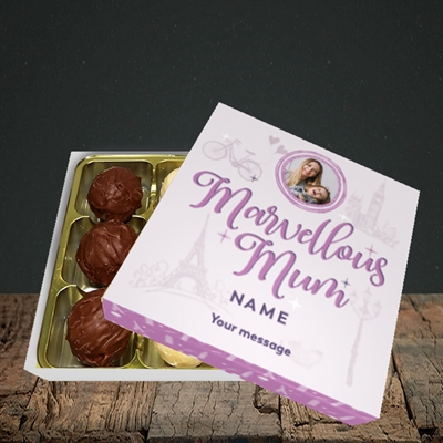 Picture of Marvellous Mum, Mother's Day Design, Choc 9