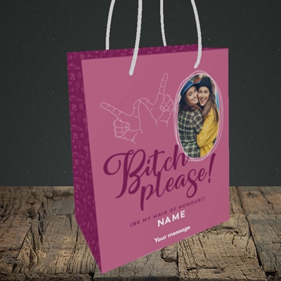 Picture of Bitch Please!, Wedding Design, Small Portrait Gift Bag