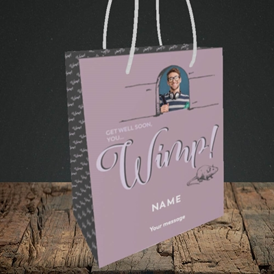 Picture of Wimp!, Get Well Soon Design, Small Portrait Gift Bag