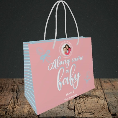 Picture of Along Came A Girl, New Baby Design, Small Landscape Gift Bag