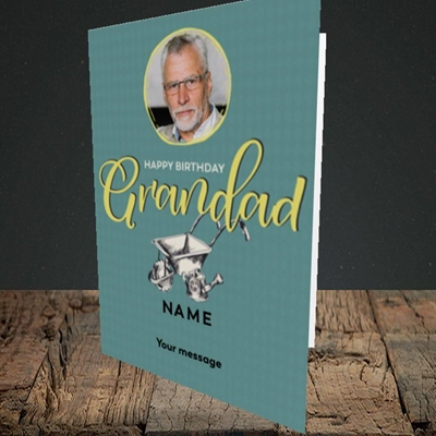 Picture of Grandad Gardening, Birthday Design, Portrait Greetings Card