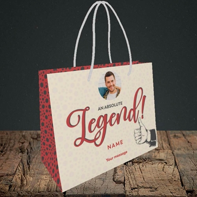 Picture of Absolute Legend, Thank You Design, Small Landscape Gift Bag