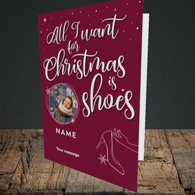 Picture of Christmas Shoes, Christmas Design, Portrait Greetings Card