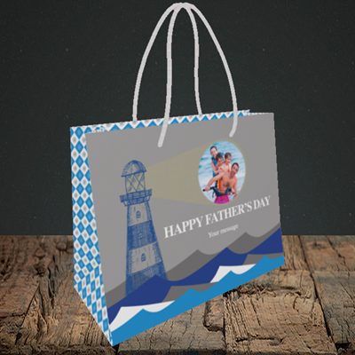 Picture of Lighthouse, Father's Day Design, Small Landscape Gift Bag