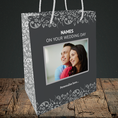 Picture of Baroque, Wedding Design, Medium Portrait Gift Bag