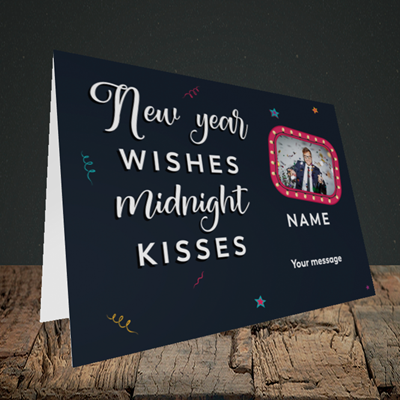 Picture of Midnight Kisses, New Year Design, Landscape Greetings Card