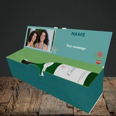 Picture of Favourite Parents, Mother's Day Design, Lay-down Bottle Box