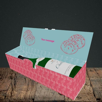 Picture of Nice Buns, (Without Photo) Easter Design, Lay-down Bottle Box