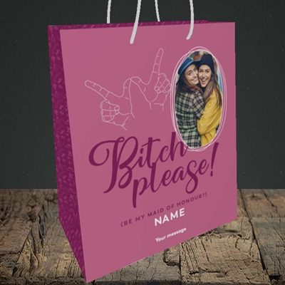 Picture of Bitch Please!, Wedding Design, Medium Portrait Gift Bag