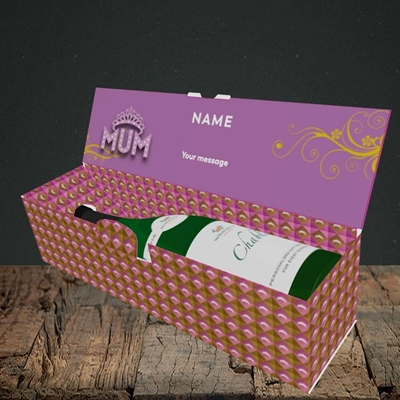 Picture of The Queen(Without Photo), Mother's Day Design, Lay-down Bottle Box