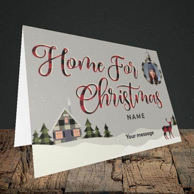 Picture of Home For Christmas, Christmas Design, Landscape Greetings Card