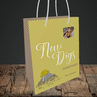 Picture of New Digs, New Home Design, Small Portrait Gift Bag