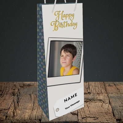 Picture of 2. A Happy Birthday Polaroid, Birthday Design, Bottle Bag