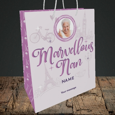 Picture of Marvellous Nan, Mother's Day Design, Medium Portrait Gift Bag