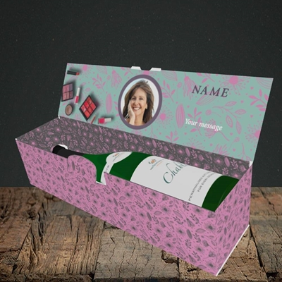 Picture of Makeover Day, Mother's Day Design, Lay-down Bottle Box