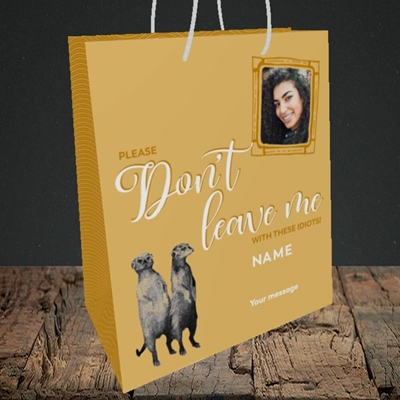 Picture of Don't Leave Me, Leaving Design, Medium Portrait Gift Bag