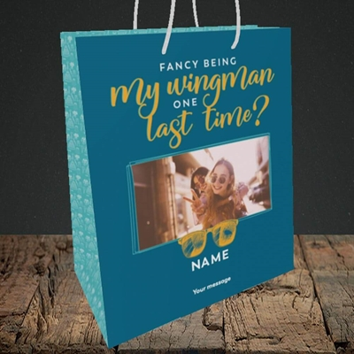 Picture of Wingman, Wedding Design, Medium Portrait Gift Bag