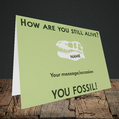 Picture of Fossil, (Without Photo) Birthday Design, Landscape Greetings Card