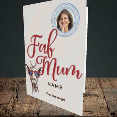 Picture of Fab Mum, Birthday Design, Portrait Greetings Card