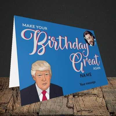 Picture of A Trump Birthday, Birthday Design, Landscape Greetings Card
