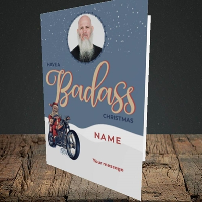 Picture of Badass, Christmas Design, Portrait Greetings Card