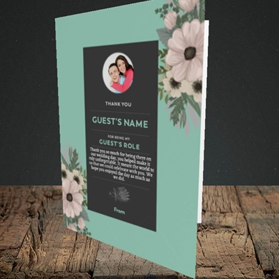 Picture of Flowers Green SG, Wedding Design, Portrait Greetings Card
