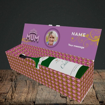 Picture of The Queen, Mother's Day Design, Lay-down Bottle Box