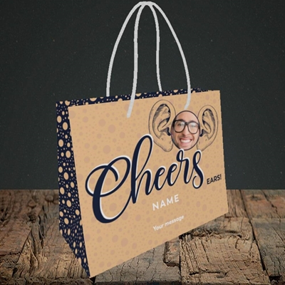 Picture of Cheers Ears, Thank You Design, Small Landscape Gift Bag