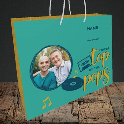 Picture of Top Of The Pops, Father's Day Design, Medium Landscape Gift Bag