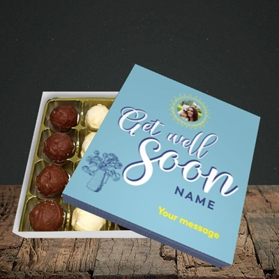 Picture of Sun & Flowers, Get Well Soon Design, Choc 16
