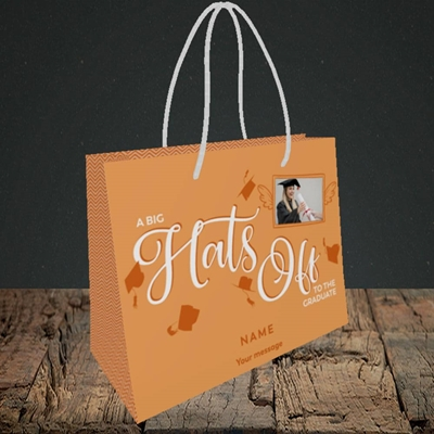 Picture of Hats Off, Graduation Design, Small Landscape Gift Bag