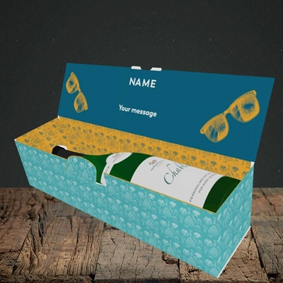 Picture of Wingman(Without Photo), Wedding Design, Lay-down Bottle Box