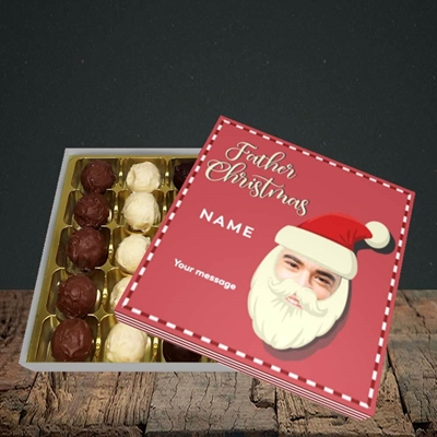 Picture of Father Christmas Mask, Christmas Design, Choc 25