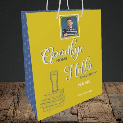Picture of Hello University, Leaving Design, Medium Portrait Gift Bag